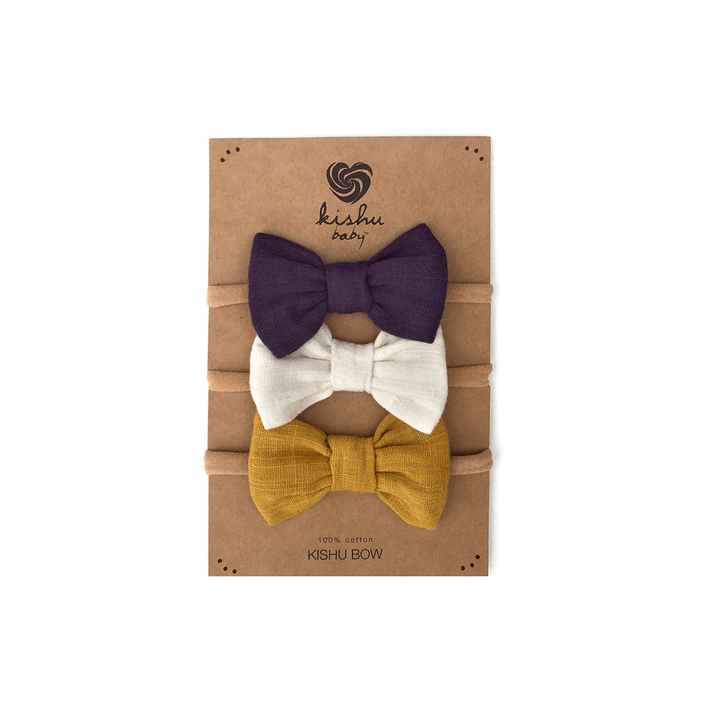 Solid Baby Bow Set - Purple  - The Project Nursery Shop