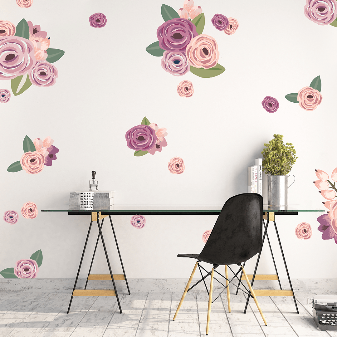 Graphic Flower Cluster Wall Decals   Project Nursery Part 50