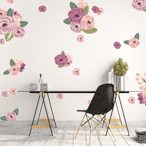 Graphic Flower Cluster Wall Decals - Project Nursery