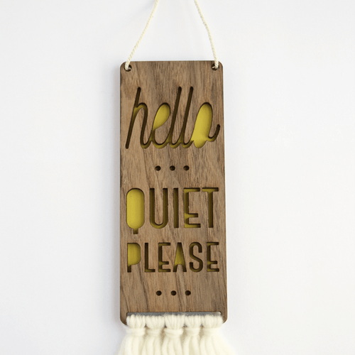 Quiet Please Baby Door Sign - Project Nursery