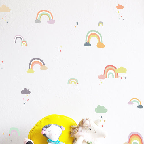 Rainy Rainbows Wall Decal Set - Project Nursery