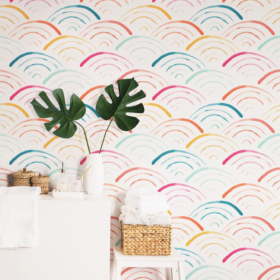 Rainbow Wallpaper - Project Nursery