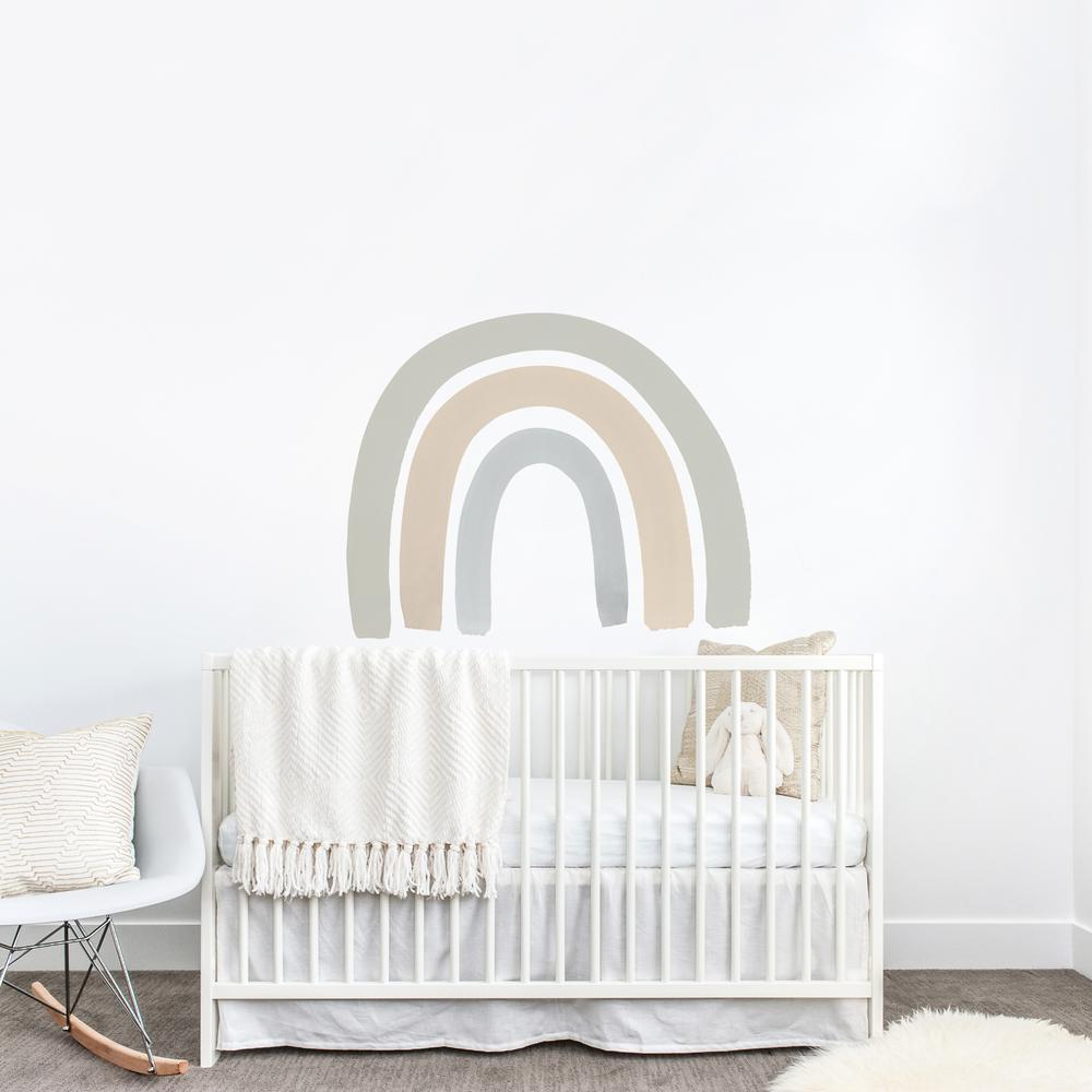 Blue + Gray Rainbow Decal - Project Nursery