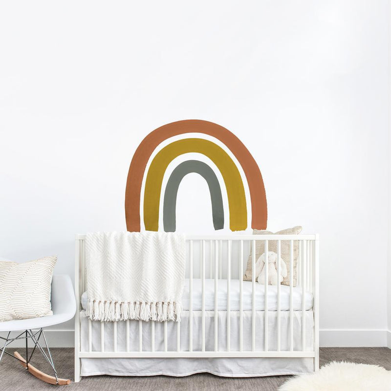 Rust + Mustard Rainbow Decal - Project Nursery