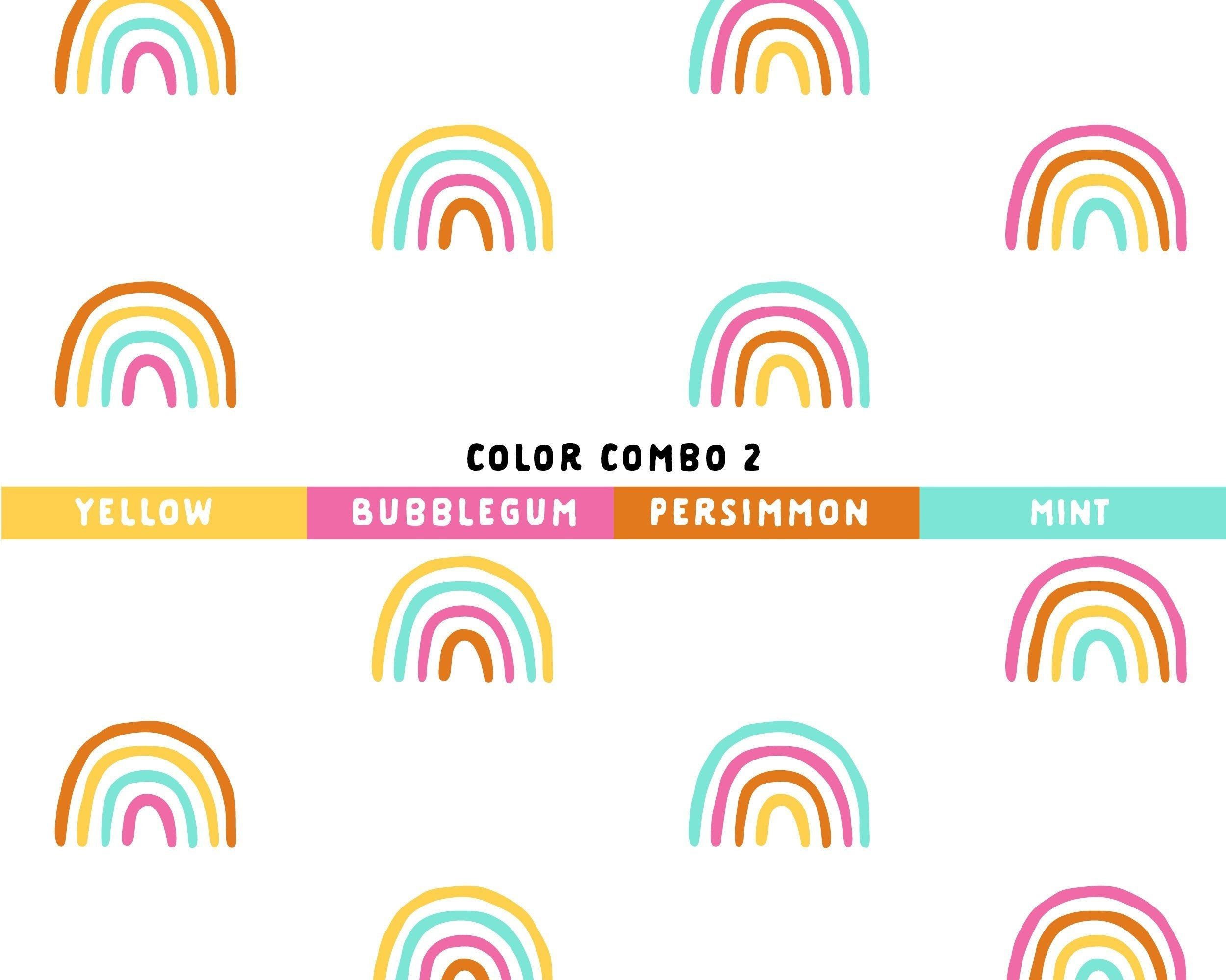 Four-Color Rainbow Wall Decal Set - Project Nursery