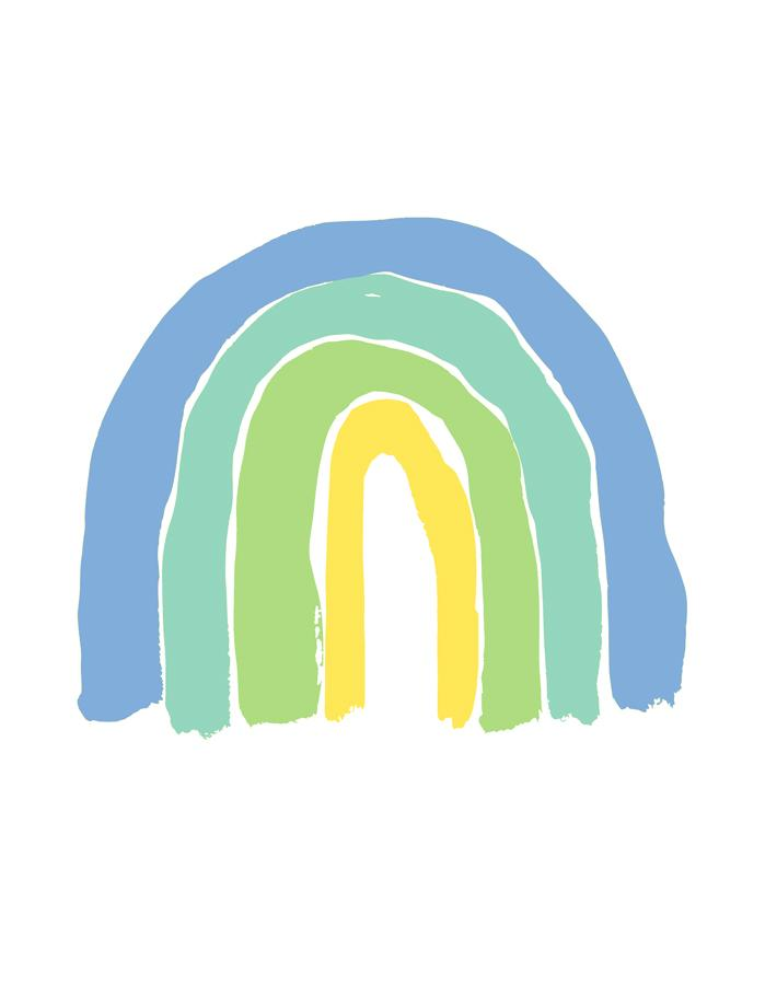 Green Rainbows Wallpaper - Project Nursery