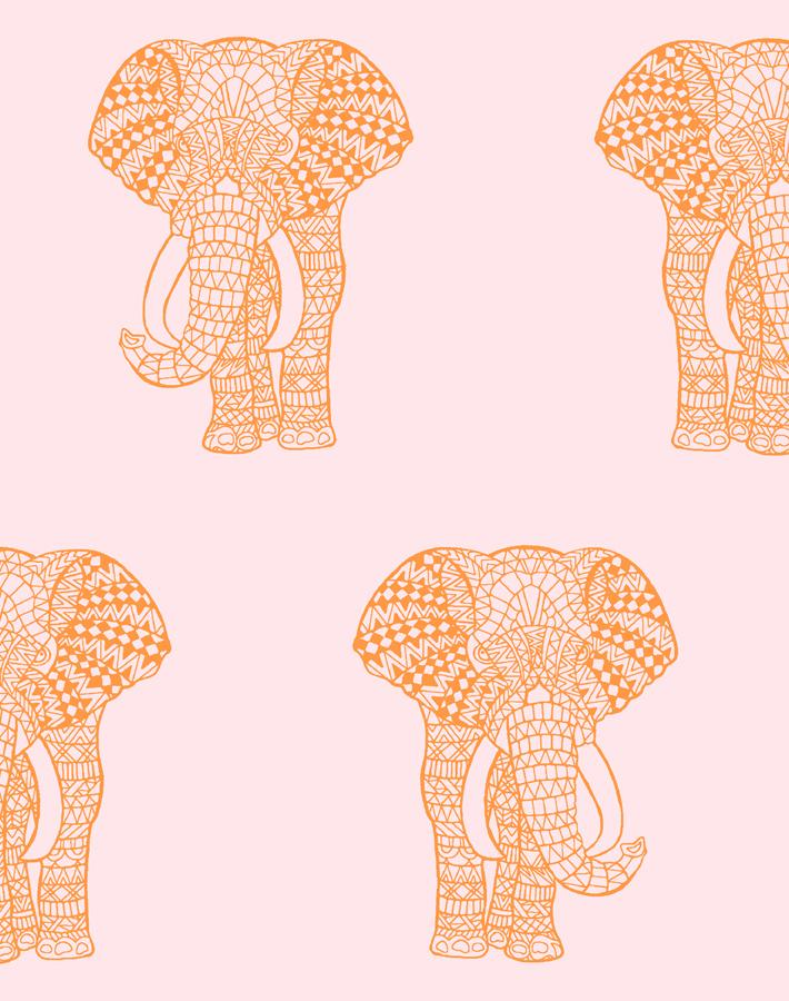 Raja Elephant Wallpaper - Project Nursery