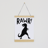 Rawr! Canvas Banner Black - The Project Nursery Shop - 3