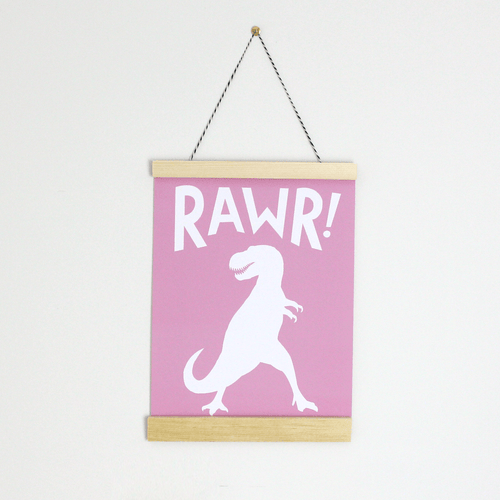 Rawr! Canvas Banner - Project Nursery