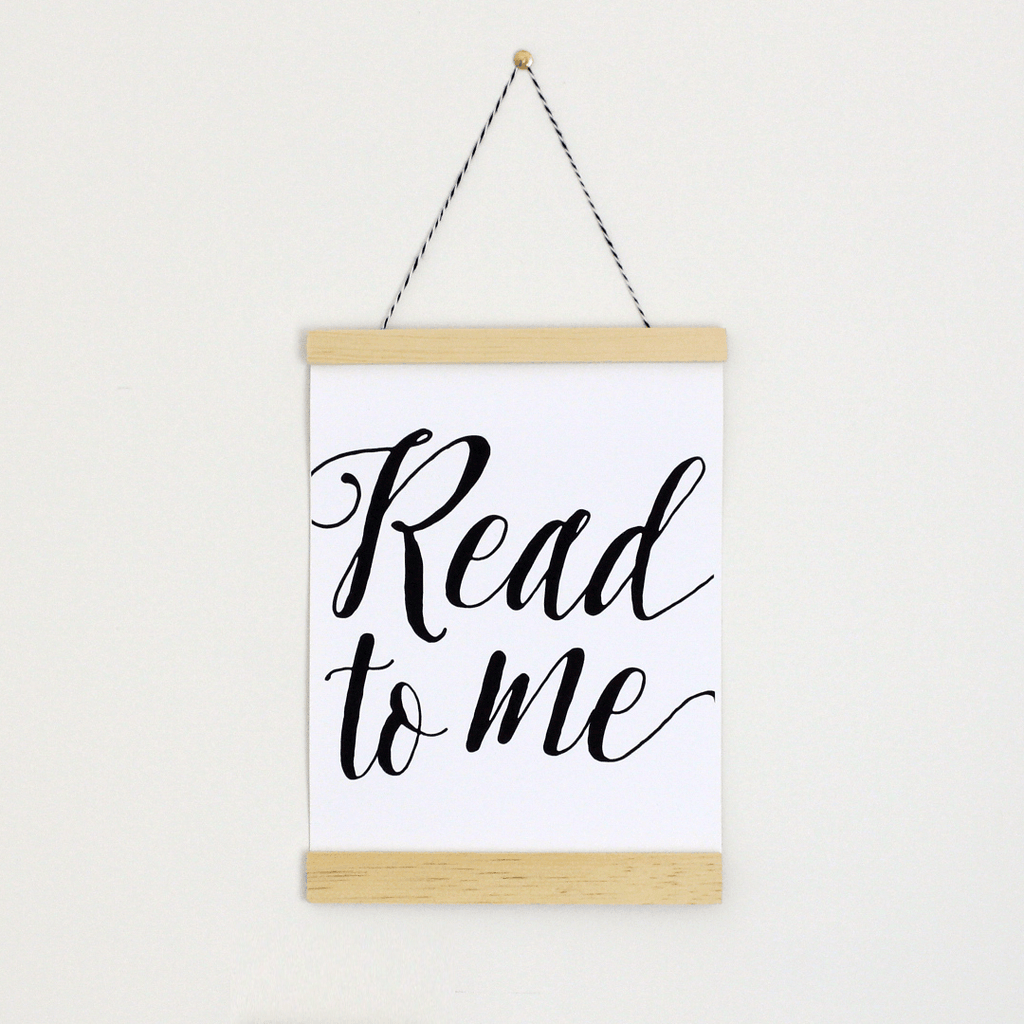 Read to Me Canvas Banner  - The Project Nursery Shop - 1