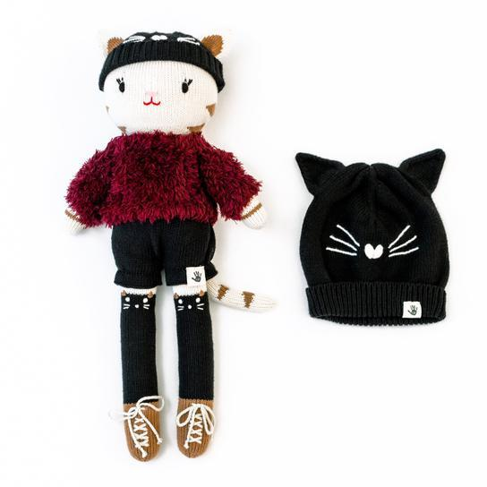 Sassy Cassy the Cat + Matching Beanie - Project Nursery