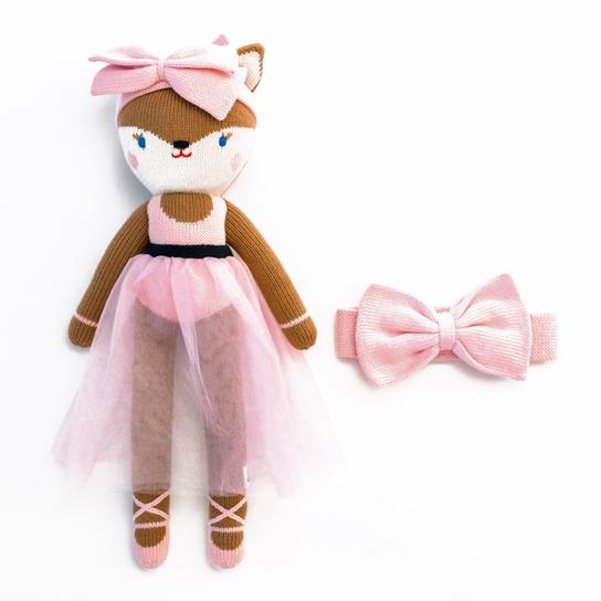 Foxy Bella Ballerina + Bow Set - Project Nursery