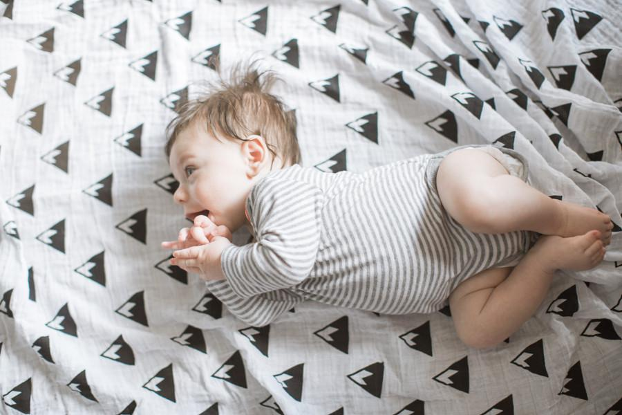 Mountains Organic Swaddle  - The Project Nursery Shop - 3