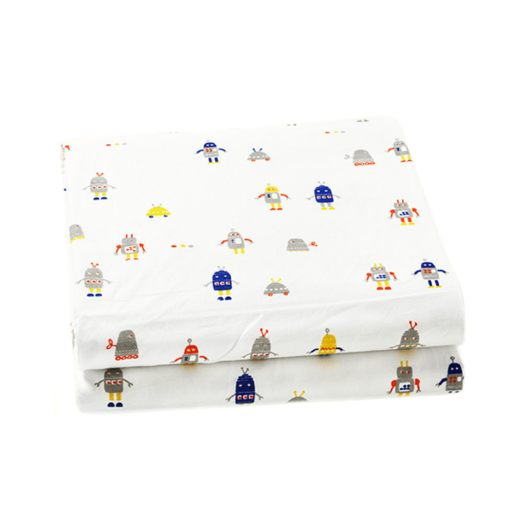 Robot March Crib Sheet  - The Project Nursery Shop - 1