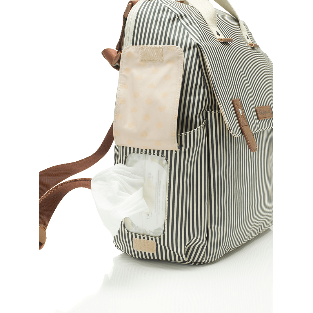 Robyn Diaper Bag - Navy Stripe - Project Nursery