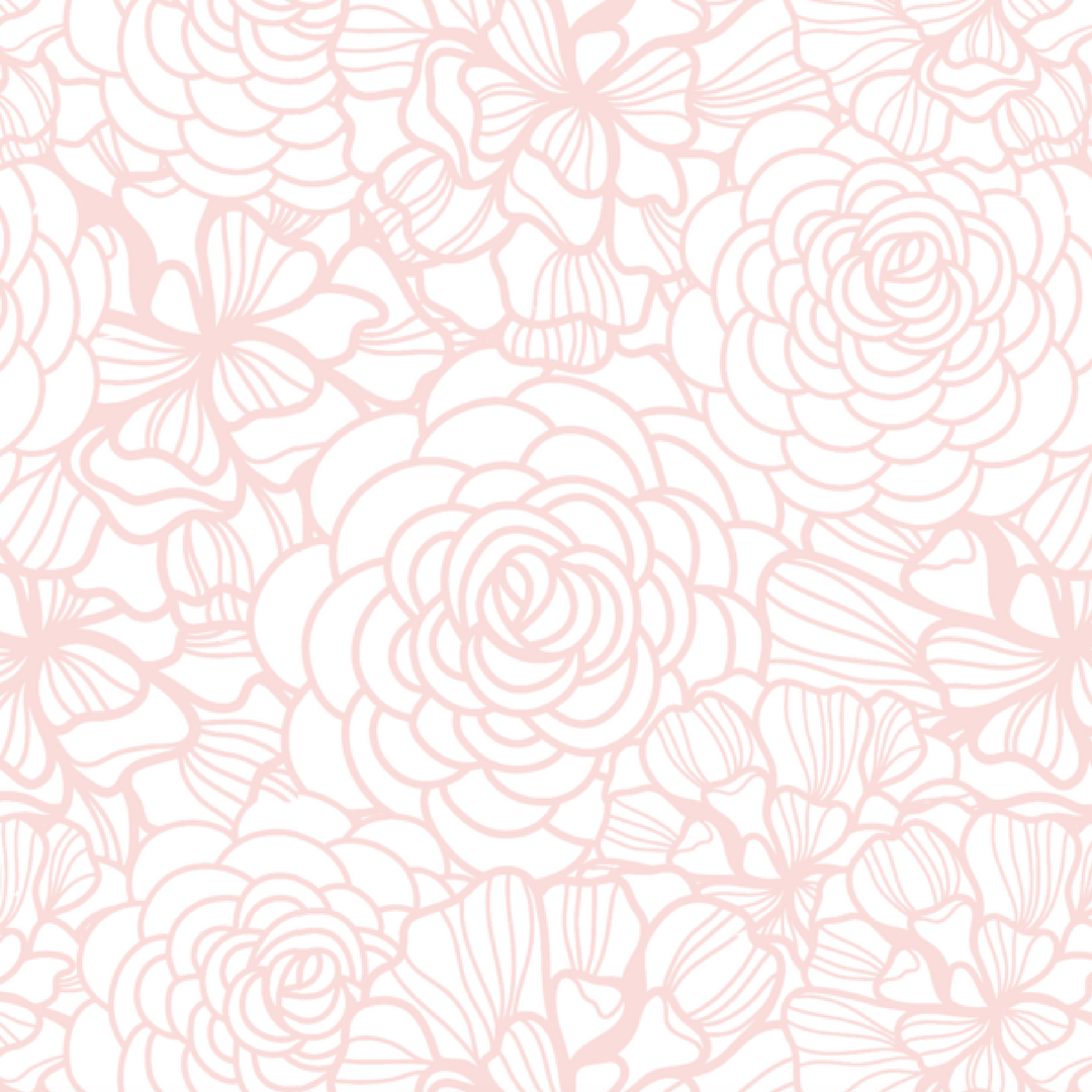 Blush Pink Flower Self Adhesive Wallpaper Project Nursery