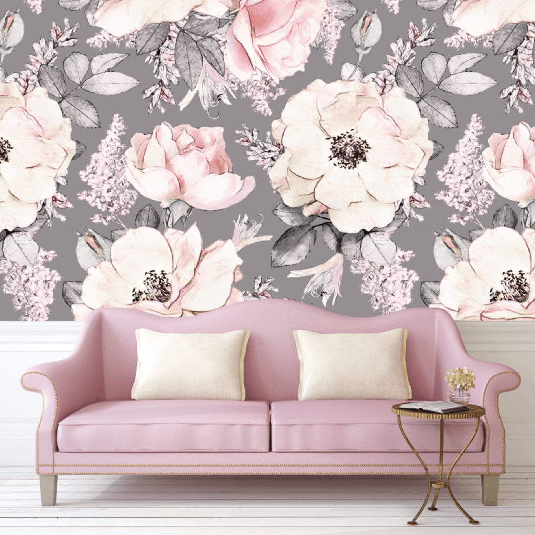 Dusty Rose Self-Adhesive Wallpaper - Project Nursery