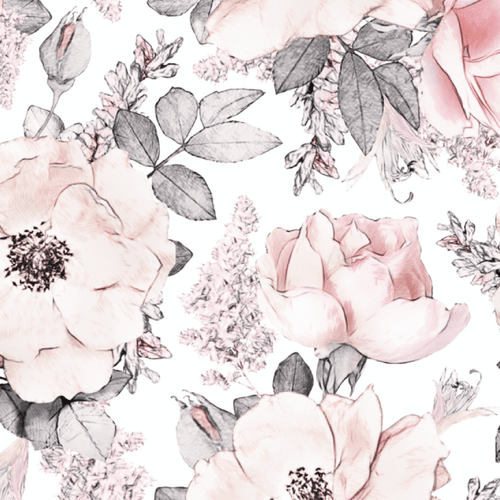 Snowy Rose Self-Adhesive Wallpaper - Project Nursery