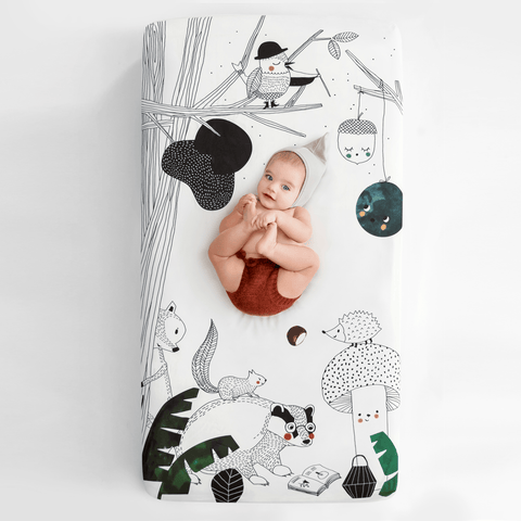 Rainbows + Unicorns Muslin Swaddle Blanket