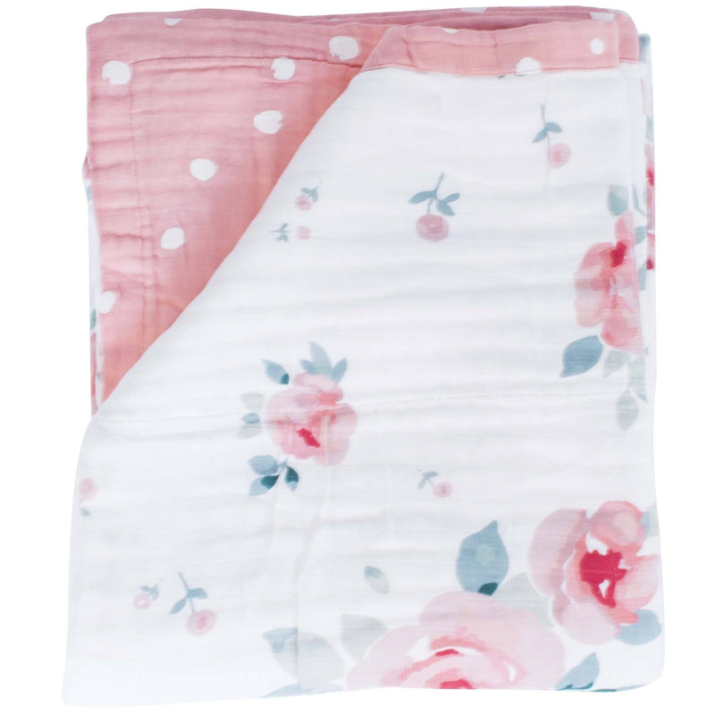 Rosy + Dewdrops Luxury Muslin Toddler Snuggle Blanket - Project Nursery