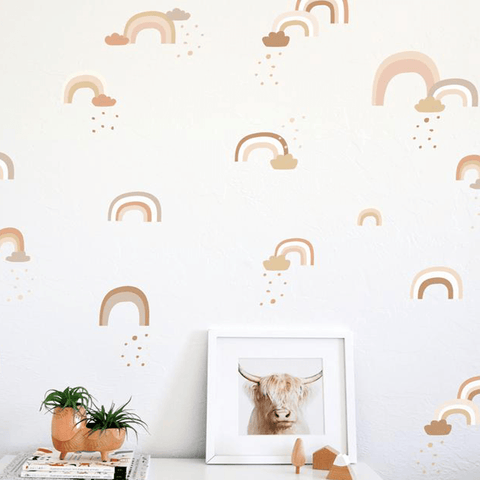 Confetti Wall Decals in Coral