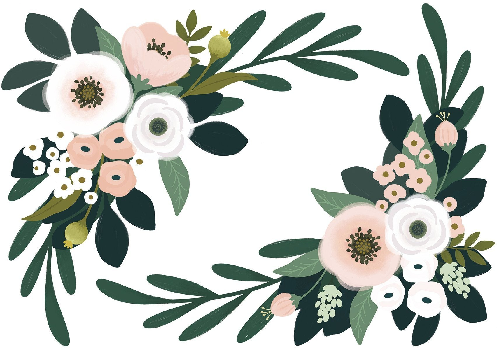 Large Floral Corner Wall Stickers - Project Nursery