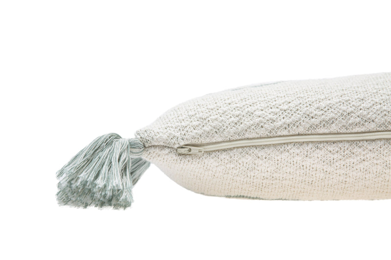 Little Oasis Knitted Pillow - Indus Blue - Project Nursery
