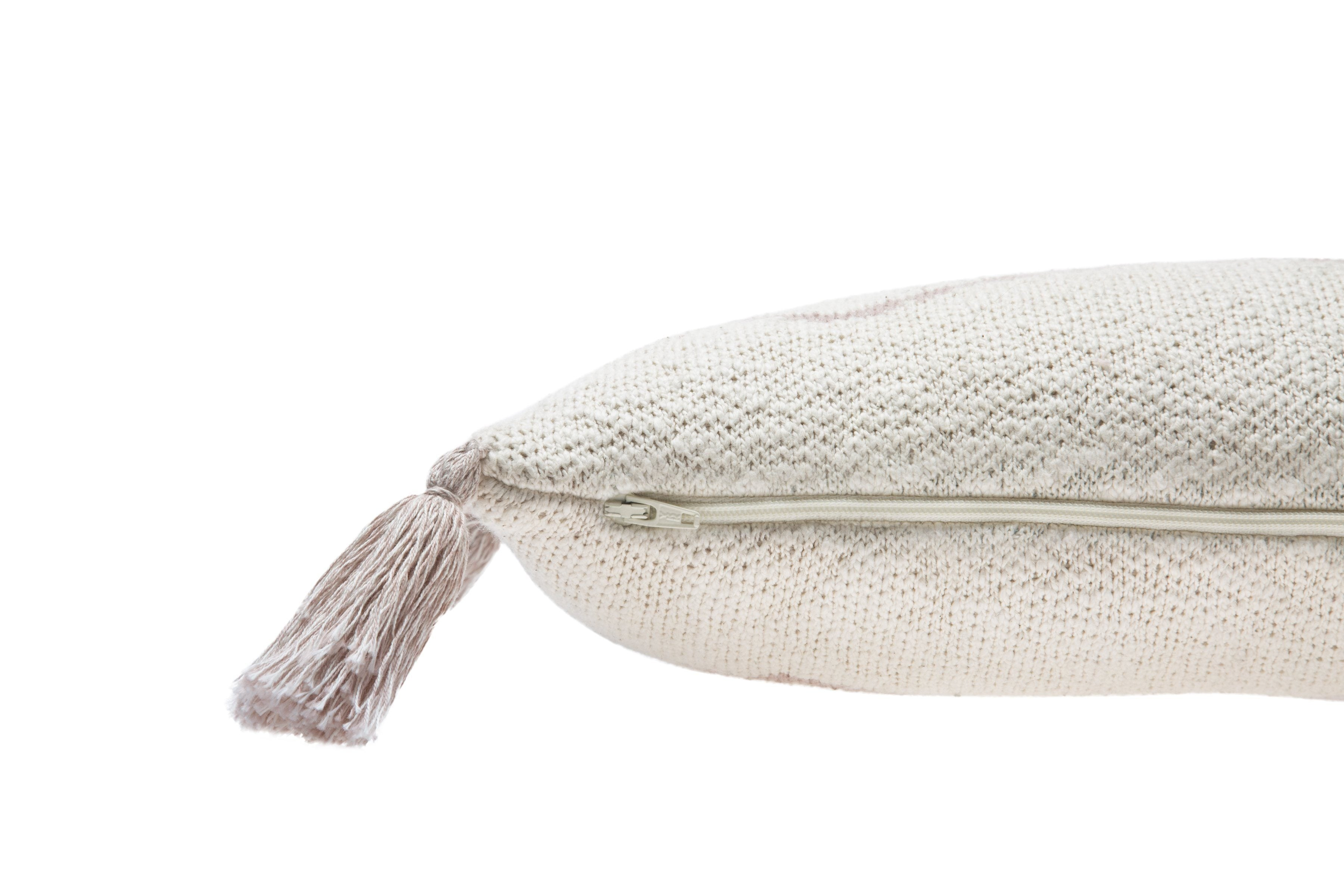Little Oasis Knitted Pillow - Pale Pink - Project Nursery