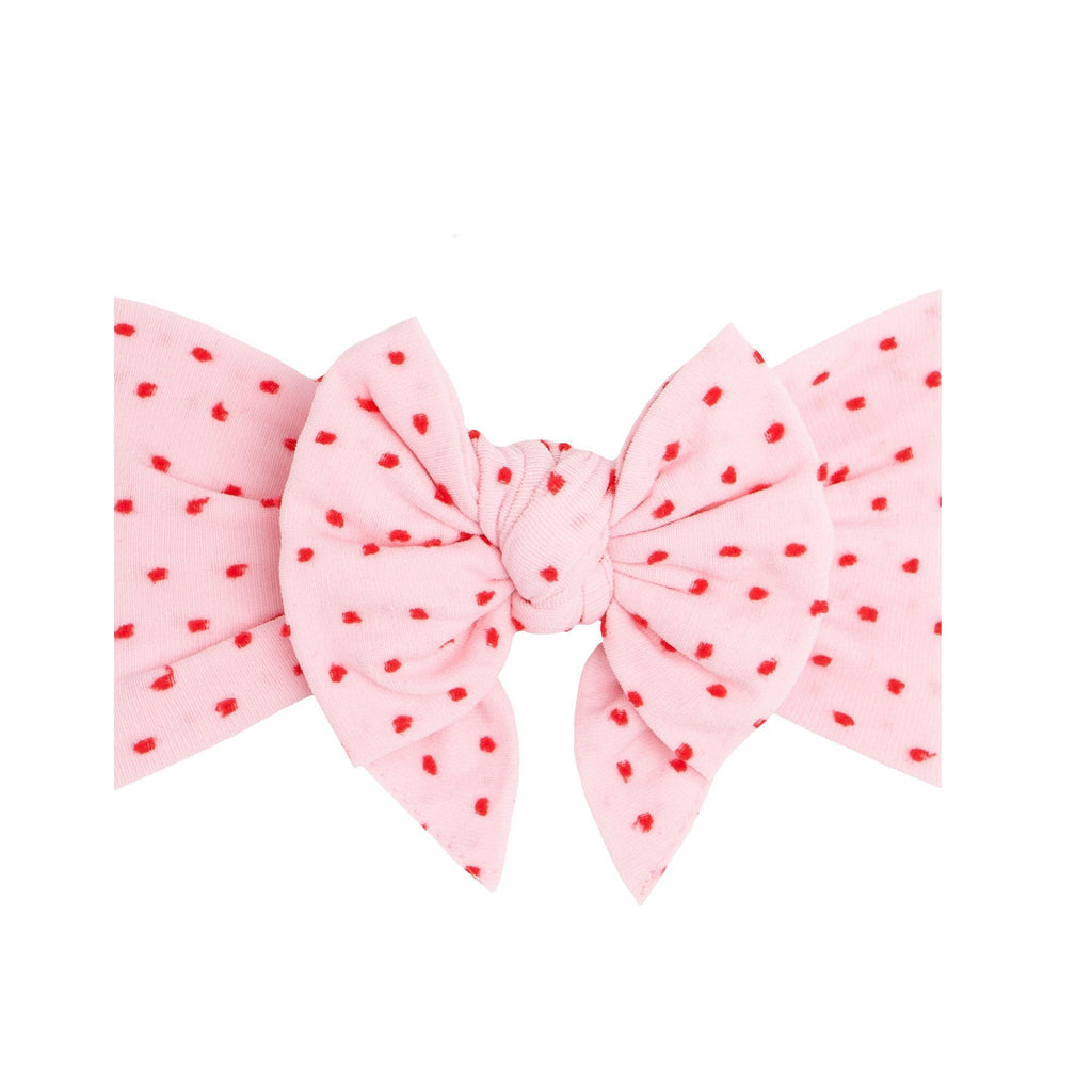 Pink with Red Shabby Dot Dang Enormous Bow - Project Nursery