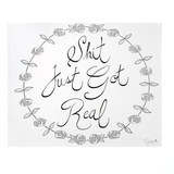 'Shit Just Got Real' Organic Swaddle Scarf  - The Project Nursery Shop - 1