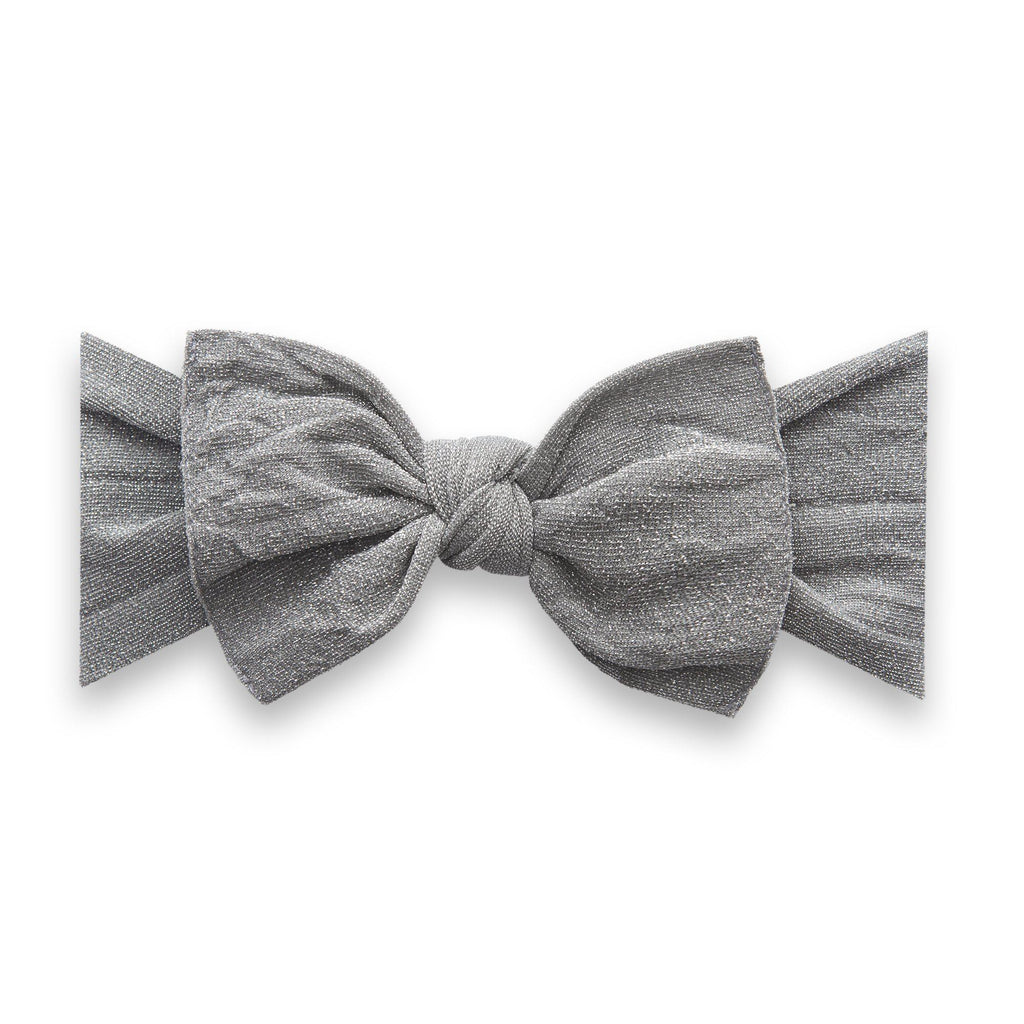 Silver Metallic Knot Headband - Project Nursery
