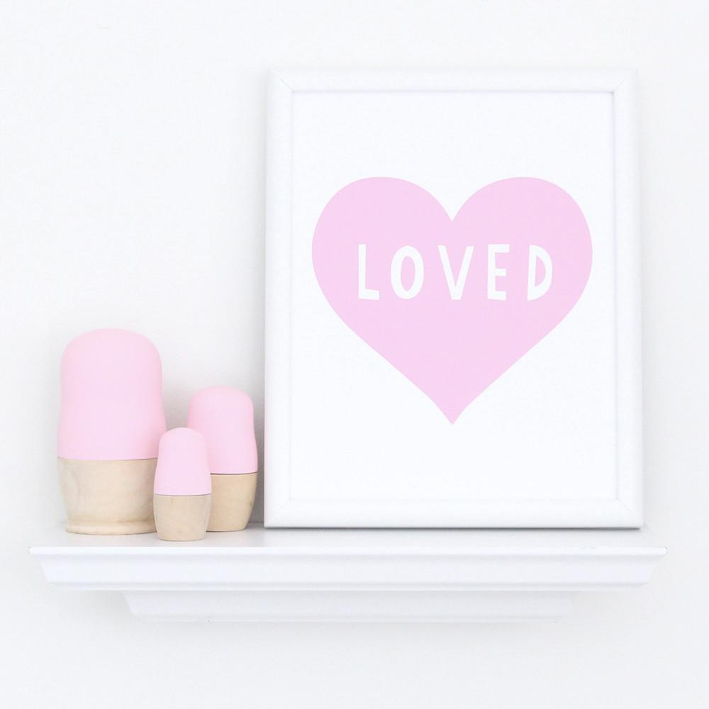 Pink Heart Art Print  - The Project Nursery Shop - 2