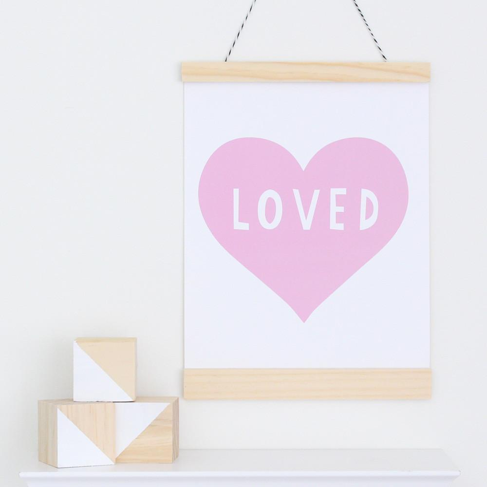 Pink Heart Canvas Banner  - The Project Nursery Shop - 2