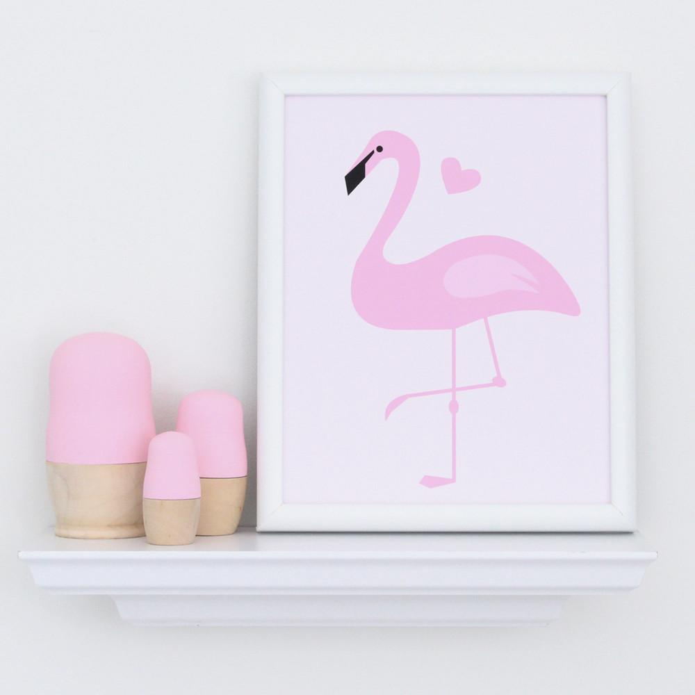 Pink Flamingo Art Print  - The Project Nursery Shop - 2