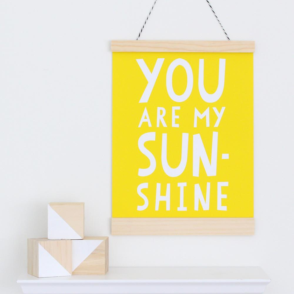 You are my Sunshine Canvas Banner  - The Project Nursery Shop - 2