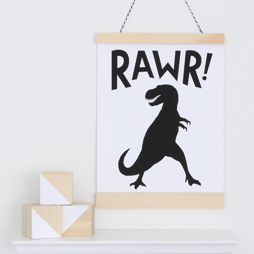 Rawr! Canvas Banner  - The Project Nursery Shop - 4