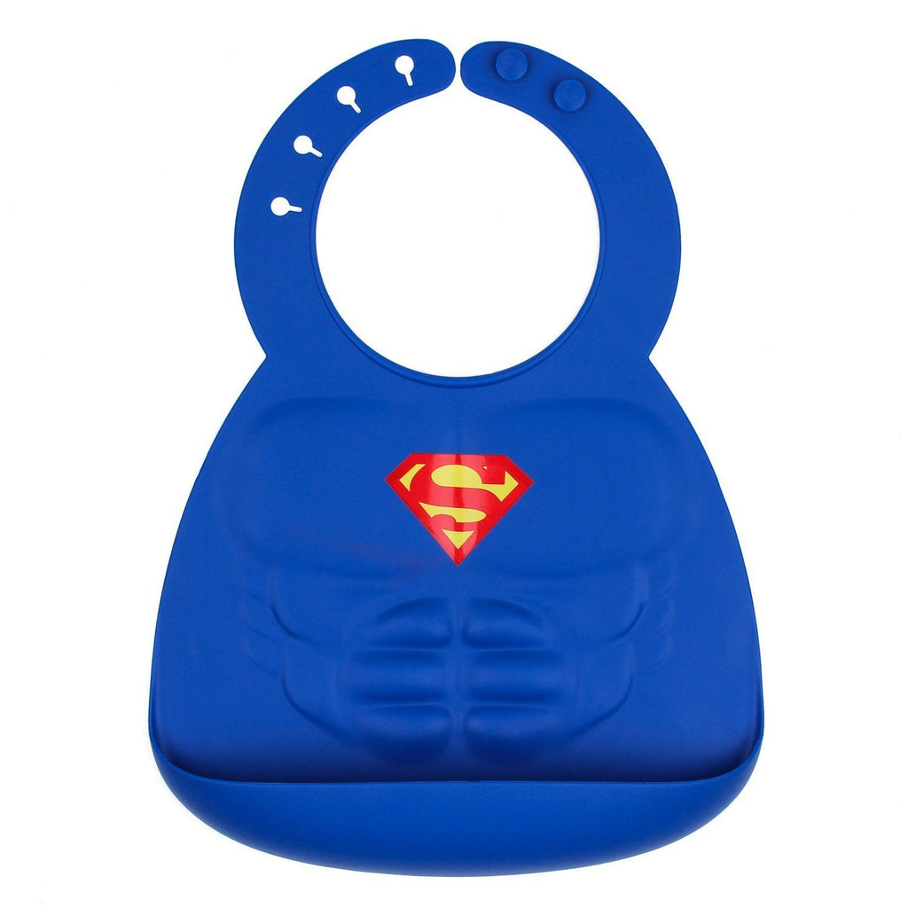 Superman Silicone Bib - Project Nursery