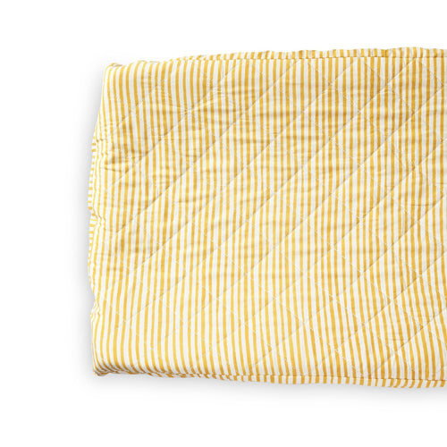Stripes Away Change Pad Cover - Marigold - Project Nursery