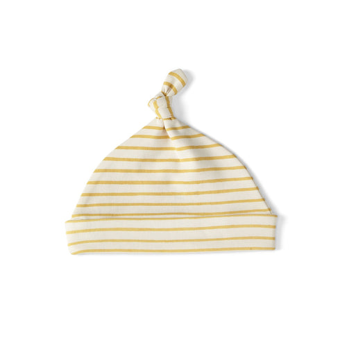 Stripes Away Knot Hat - Marigold - Project Nursery