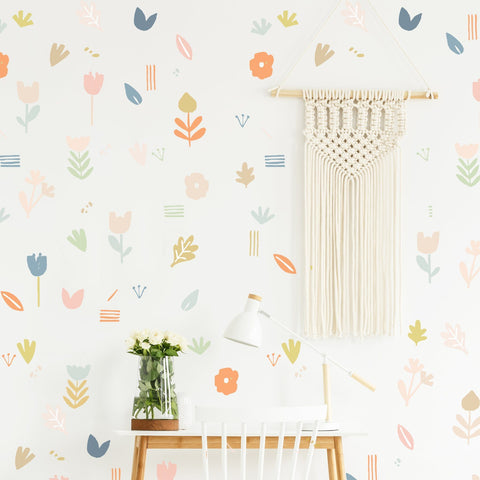 Flowing Leaves Wall Decal