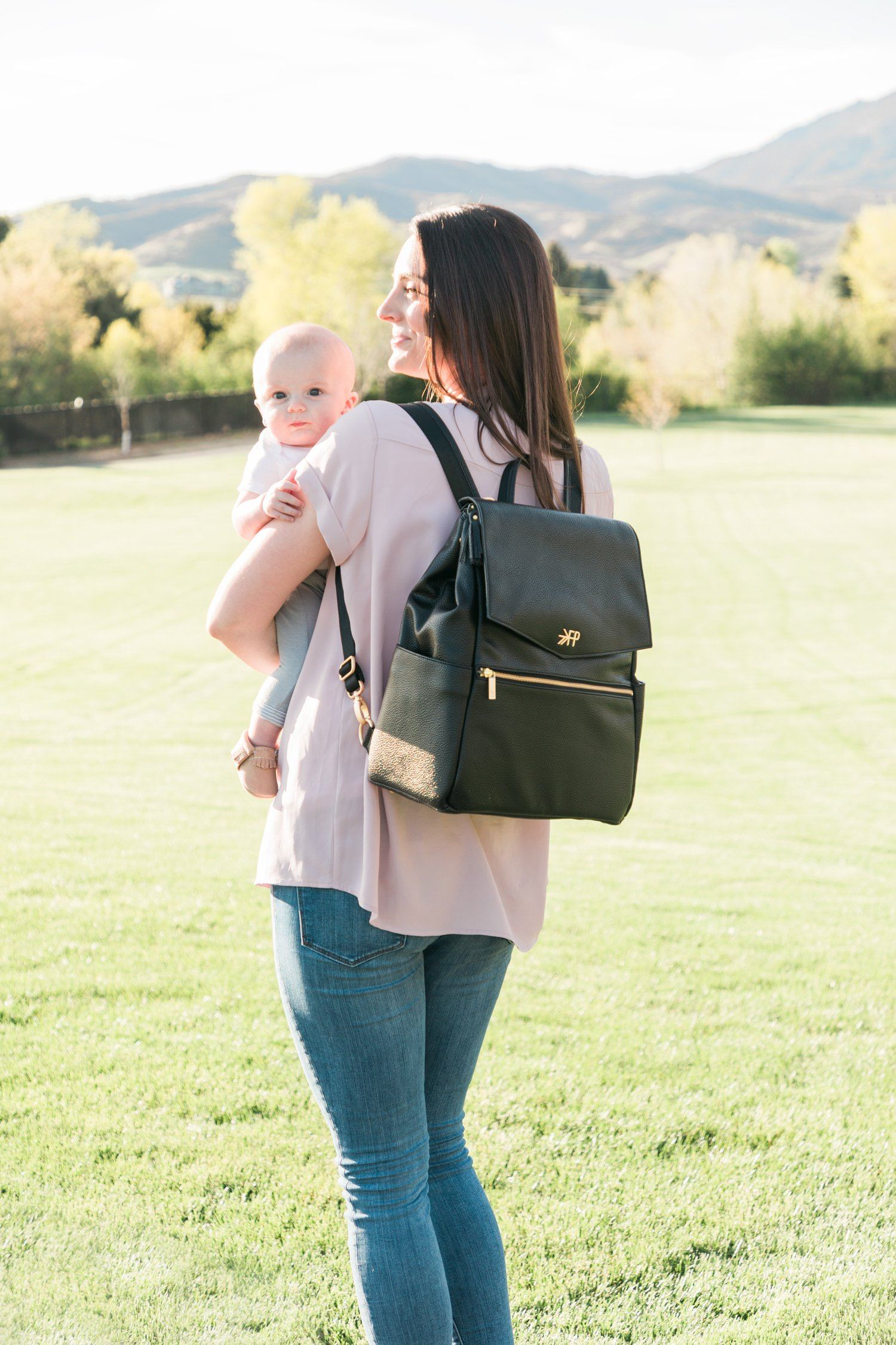 Freshly Picked Classic Diaper Bag - Ebony - Project Nursery