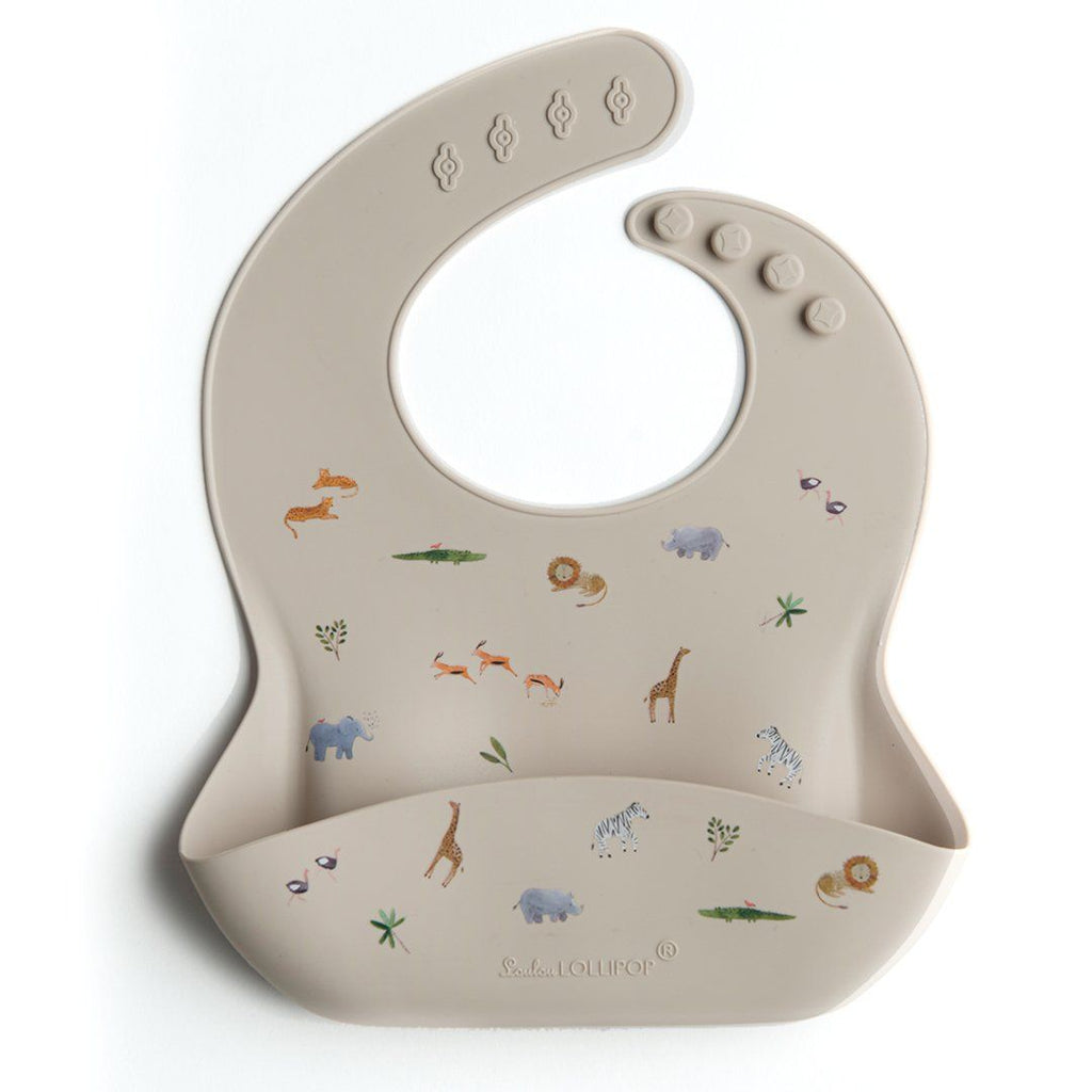 Safari Silicone Bib - Project Nursery