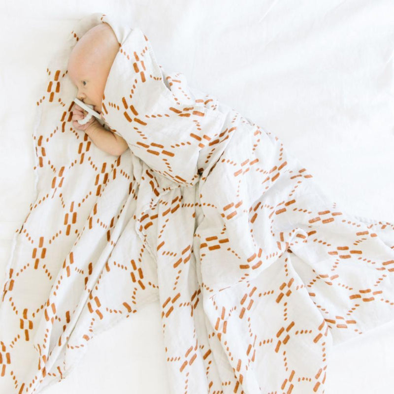AJJ Juliet Copper Bamboo Rayon Muslin Swaddle - Project Nursery