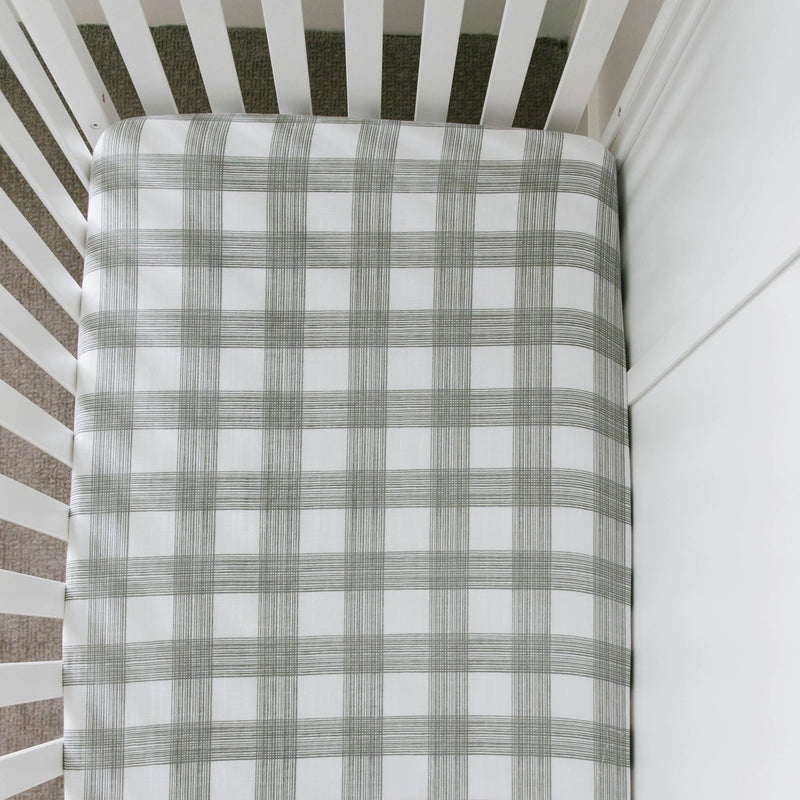 Perfectly Plaid Cotton Muslin Crib Sheet - Project Nursery