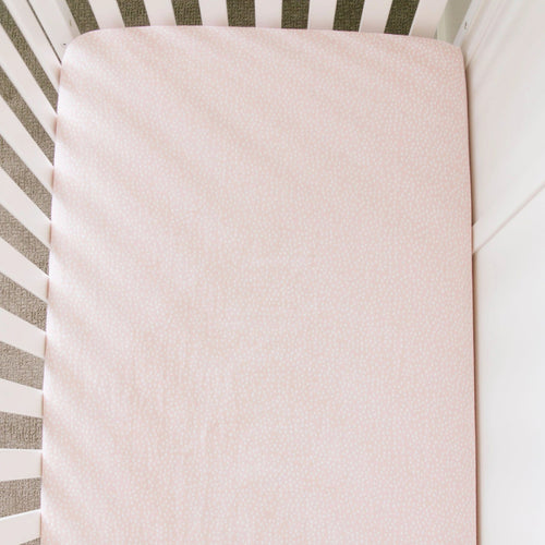 Fallen Petal Cotton Muslin Crib Sheet - Project Nursery