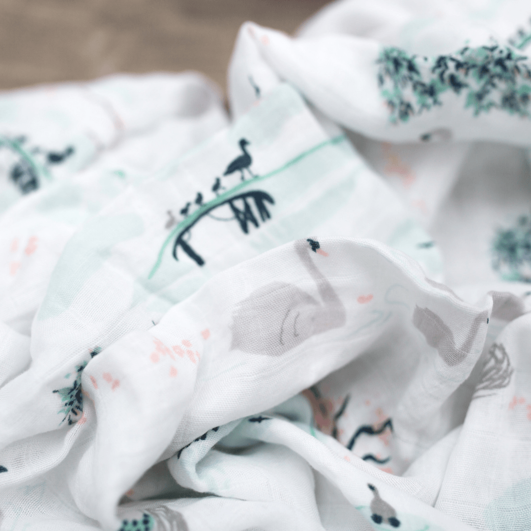 A Swan's Tale Swaddle Blanket - Project Nursery