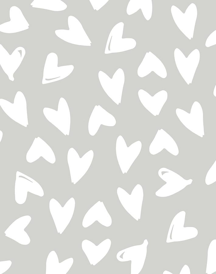 Hearts Wallpaper - Project Nursery