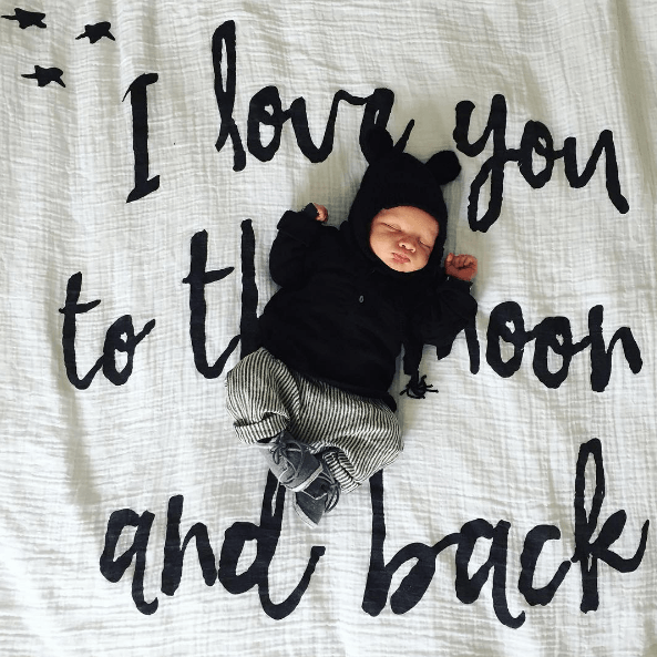 I Love You to the Moon and Back Organic Swaddle  - The Project Nursery Shop - 2
