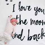 I Love You to the Moon and Back Organic Swaddle  - The Project Nursery Shop - 3