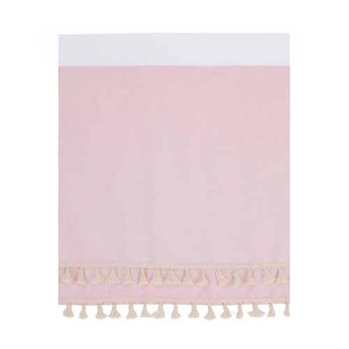 Pink Cotton Sateen Crib Skirt - Project Nursery